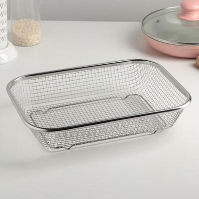 Корзинка для мытья продуктов Доляна, 201 сталь, 30×22 см
