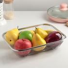 Корзинка для мытья продуктов Доляна, 201 сталь, 30×22 см - Фото 2