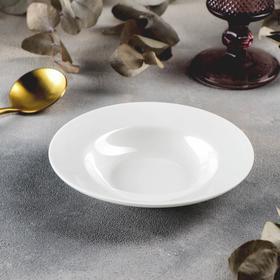 Тарелка глубокая Stella Pro, 100 мл, d=15 см, цвет белый
