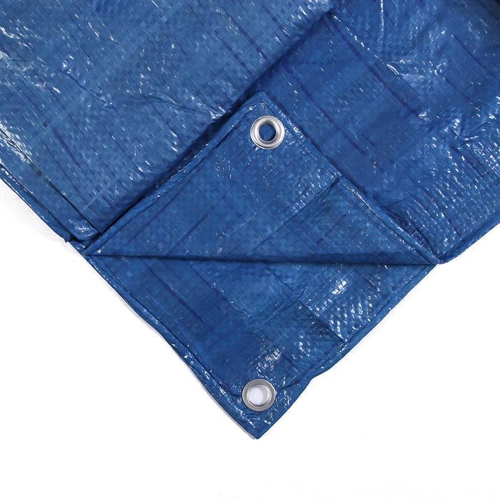 Тент защитный, 4  5 м, плотность 60 гм, люверсы шаг 1 м, тарпаулин, УФ, синий