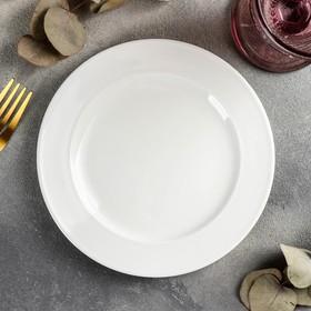 Тарелка десертная, d=18 см, цвет белый