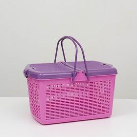 Переноска для собак и кошек, фиолетовая,  47х36х27,5 см Ош