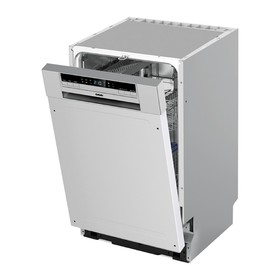 Посудомоечная машина BBK 45-DW202D, класс А, 9 комплектов, 6 программ, 45 см, серая Ош