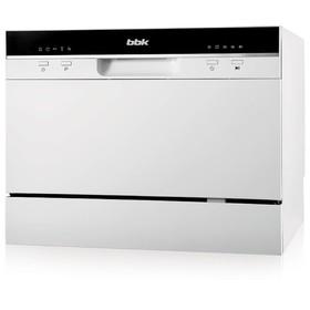 Посудомоечная машина BBK 55-DW011, класс А, 6 комплектов, 5 программ, 55 см, белая Ош