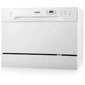 Посудомоечная машина BBK 55-DW012D класс А, 6 комплектов, 6 программ, 55 см, белая Ош