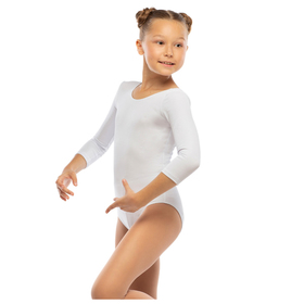 Костюм гимнастический х/б, цвет белый, размер 36