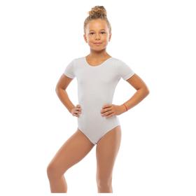 Костюм гимнастический х/б, цвет белый, размер 30