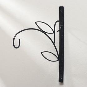 Кронштейн для кашпо, кованый, 25 см, металл, чёрный, «Зацеп» Ош