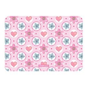 Накладка на стол пластиковая А4, 297 х 210 мм, 550 мкм, Pink Flowers Ош