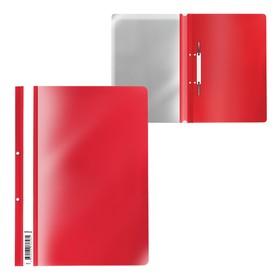 Папка-скоросшиватель с перфорацией A4, ErichKrause, Fizzy Classic, красная Ош