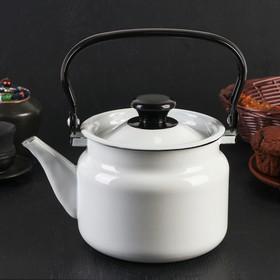 Чайник цилиндрический, 2 л, без деколи, цвет белый