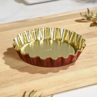 Форма для выпечки булок №1, антипригарное покрытие, h=2,5 см, d=14*12 см - Фото 1