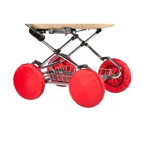 Чехлы на колеса коляски, 4 шт., в сумке, цвет красный Ош