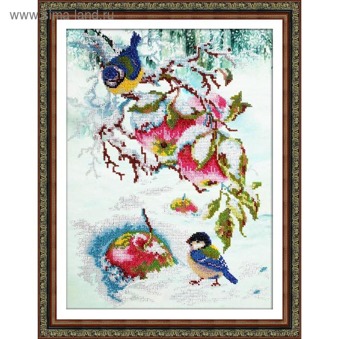 Набор для вышивки бисером «Яблочки для синички»