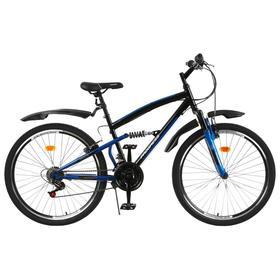 Велосипед 26' Progress Sierra FS, цвет черный/синий, размер 18' Ош