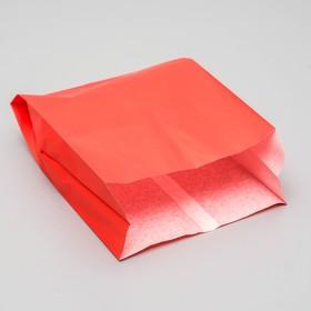 Пакет бумажный фасовочный, красный, V-образное дно 23,9 х 17 х 7 см Ош