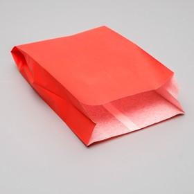Пакет бумажный фасовочный, красный, V-образное дно 29 х 17 х 7 см Ош