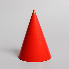 Колпак бумажный, однотонный, цвет красный Ош