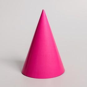Колпак бумажный, однотонный, цвет розовый Ош