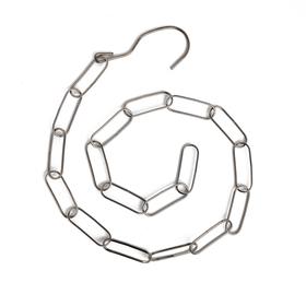 Цепочка-держатель для плечиков, звено 5,5*2, L=108см, цвет серый Ош