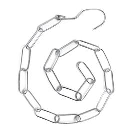 Цепочка-держатель для плечиков, звено 5,5*2, L=108см, цвет серебро Ош