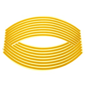 Лента-полоски на обод колеса мотоцикла, 18 дюймов, желтый, набор 16 шт