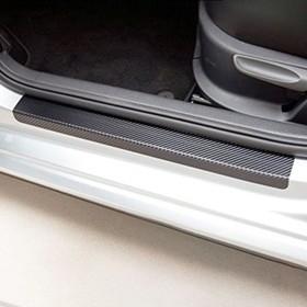 Пленка защитная на порог авто, карбон, 60х7 см, 40х7 см, набор 4 шт Ош