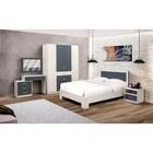 Спальня «Венеция 6», кровать 140 ? 200 см, шкаф 4х дв, 2 тумбочки, зеркало, стол туалетный