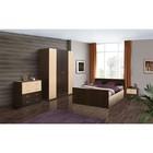 Спальня «Венеция 11», кровать 140 ? 200 см, шкаф 4х дверный, 2 тумбочки, комод, венге/клён