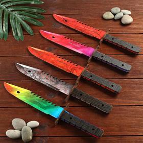 Сувенир деревянный нож 2 модификация, 5 расцветов в фасовке, МИКС Ош