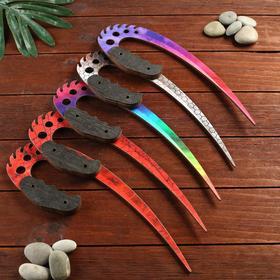 Сувенир деревянный нож 3 модификация, 5 расцветов в фасовке, МИКС Ош