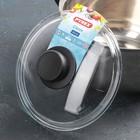 Крышка для сковороды и кастрюли стеклянная, d=20 см, с пластиковой ручкой - Фото 2