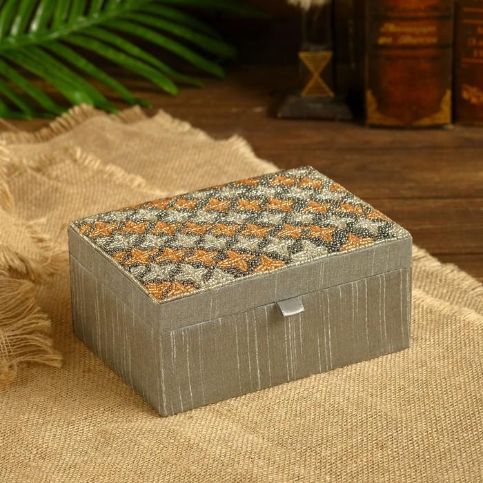 Шкатулка Хришита текстиль 18х18х8,5 см