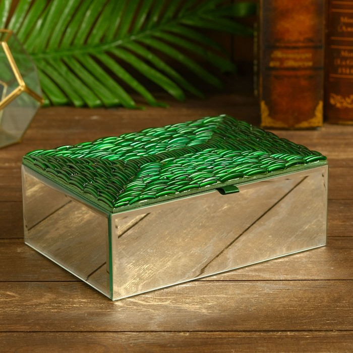 Шкатулка Карима стекло 22х15х7,5 см