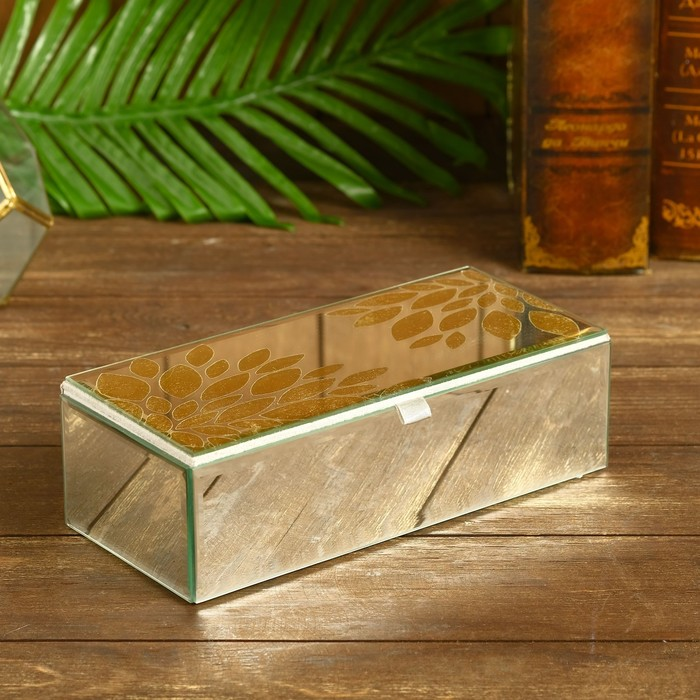Шкатулка Зухра стекло 23,5х10,5х6,5 см