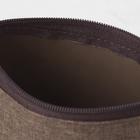 Косметичка простая, отдел на молнии, цвет коричневый - Фото 4
