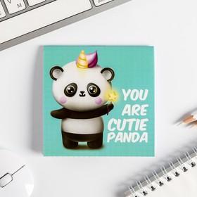 Блокнот 10*10,  16 листов 'Cutie panda' Ош