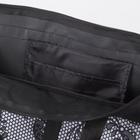Сумка хозяйственная, отдел на молнии, 2 наружных кармана, цвет чёрный - Фото 5