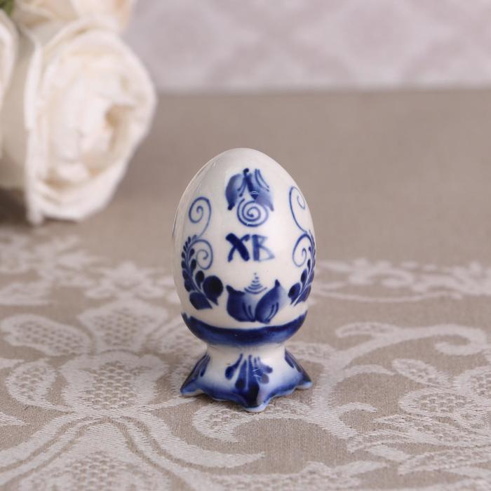 Сувенир Яйцо, 6,5 см, гжель, малое