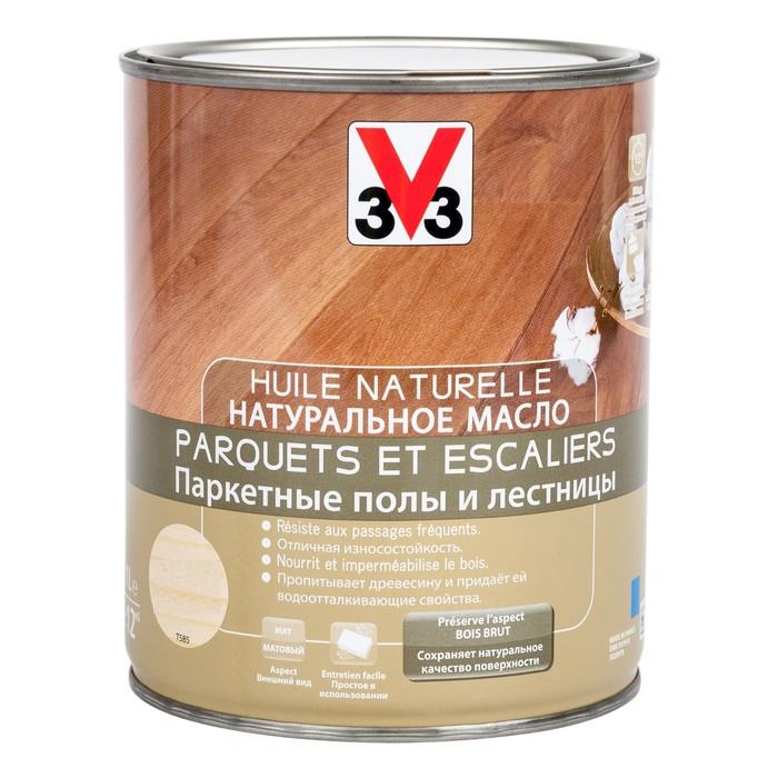 V33 Натуральное масло для лестниц и паркета Бесцветное 1л.