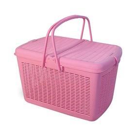 Переноска Triol 1005-3 S для животных, квадратная, 38 х 27 х 23 см, розовая Ош