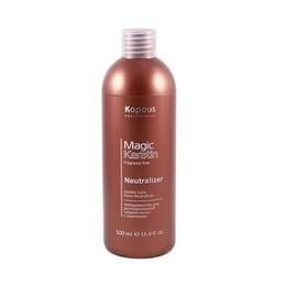 Нейтрализатор для долговременной завивки волос Kapous Magic Keratin, с кератином, 500 мл