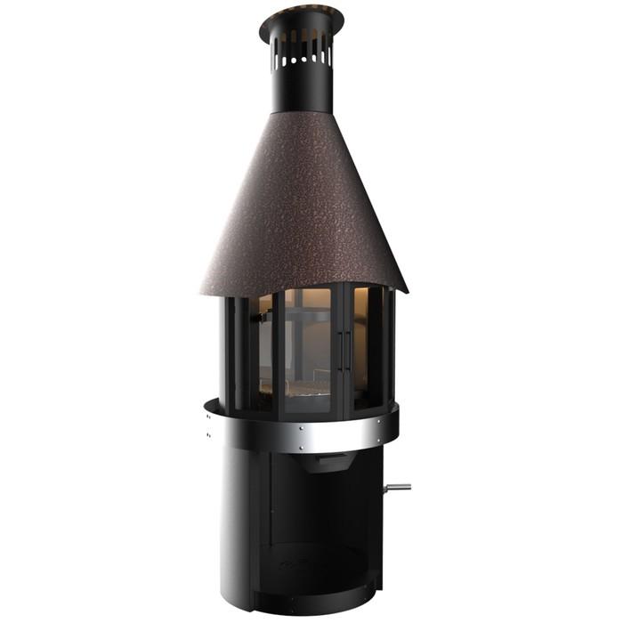 Гриль камин Grillux Suomi Grill Fireplace, 280х103х100 см, сталь 2мм, шамот, термокраска, жаропрочно