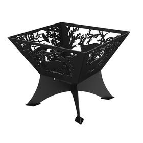 Очаг для костра Grillux «Лесная сказка», 60х60х46.8 см, сталь 4 мм, термокраска Ош