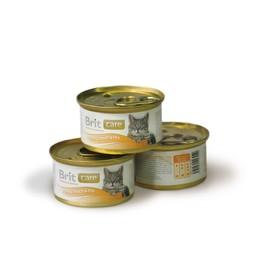 Влажный корм Brit Care Tuna, Carrot & Pea для кошек, тунец, морковь и горошек, 80 г
