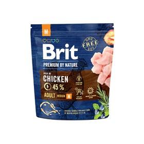 Сухой корм Brit Premium by Nature Adult M для собак, средних пород, 1 кг Ош