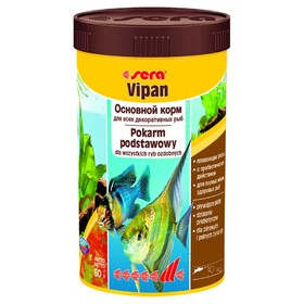 Корм Sera VIPAN для рыб основной в хлопьях, 250 мл, 60 г