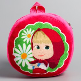 Рюкзак детский плюшевый, Маша и Медведь Ош