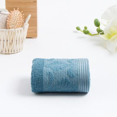 Полотенце махровое VENEZIA 30х50 см, синий, хлопок 100%, 420г/м2