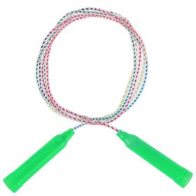 Скакалка, пластик, ПВХ, 2,3 м, d=4,3 мм, цвета МИКС Ош